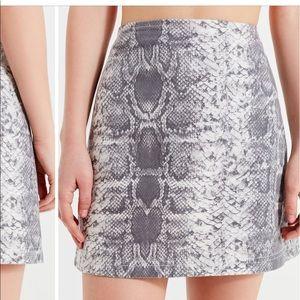 UO BDG snake skin mini skirt